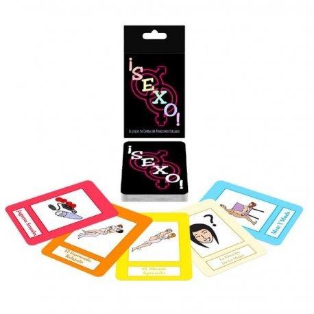 Jeu de cartes avec des positions sexuelles