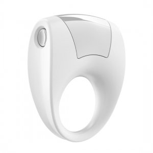 Ovo B8 white vibrating ring
