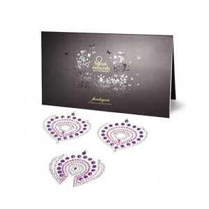 Adhesive jewellery Flamboyant violet pink