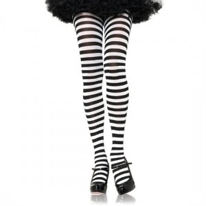 Pantyhose Leg Avenue of white and black stripes