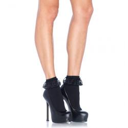 Calcetines negros con Volantes Leg Avenue