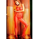 Red NET bodystocking Baci Lingerie