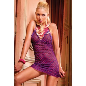 Little dress polka dots and thong game Baci Lingerie