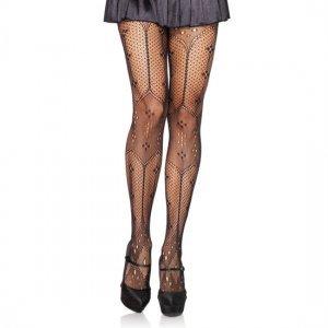 Panties Estilo Crochet Negros de Leg Avenue