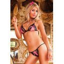 Top and black lace and Baci Lingerie pink thong