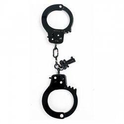 Metal handcuffs black Fetish Fantasy