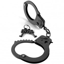 Metal handcuffs black Fetish Fantasy