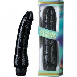 Vibrator jelly black 20 cm
