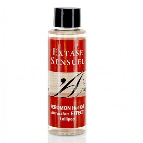Oil massage with pheromones lollipop heat effect