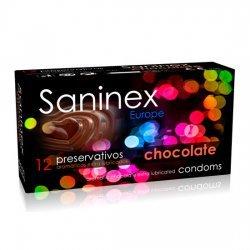 Préservatifs au chocolat 12 PCs Saninex