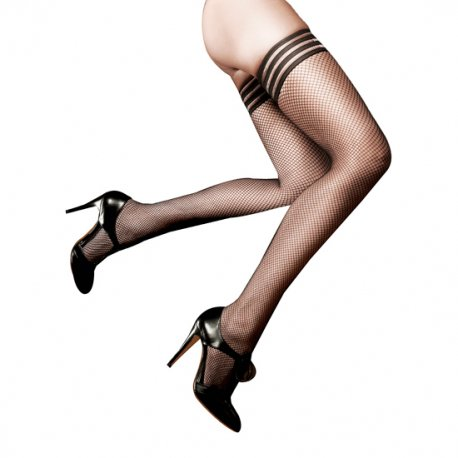 Redecila stockings with stripes of Baci Lingerie