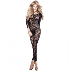 Body of Black Lace with Baci Lingerie Long Sleeve