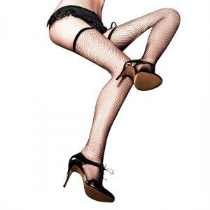 Black NET stockings After Dark Baci Lingerie - diversual.com