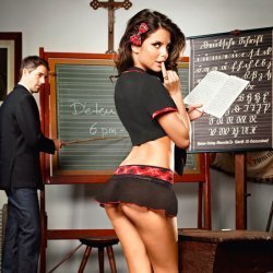 The best student of class of Baci Lingerie costume