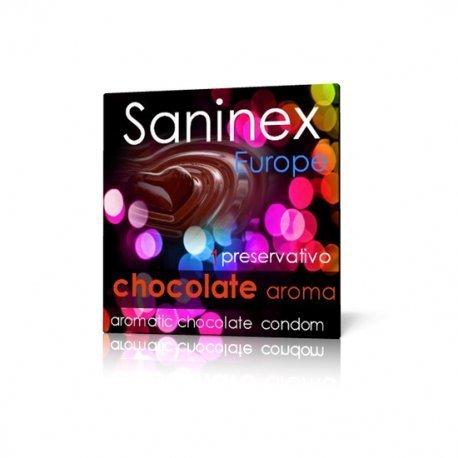 Préservatif lisse chocolat Saninex 1 Ud
