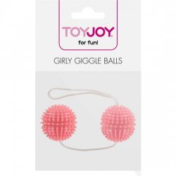 Chinese balls textured soft pink