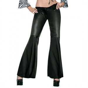 Leg Avenue black leather effect trousers