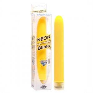 Jaune de Slims de vibrateur de Luv Touch néon - diversual.com