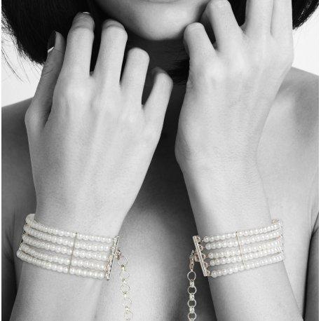 Plaisir Esposas de Perlas Blancas
