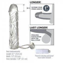 Manchon d'extension de pénis avec vibreur