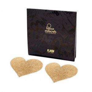 Cubre Pezones Flash Corazón Dorado - diversual.com
