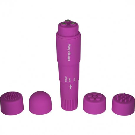 Estimulador con Cabezales Intercambiables Violeta