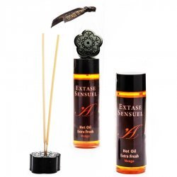 Massage oil Extase Sensuel heat effect handle