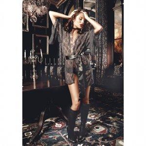 Baci Kimono de Encaje Negro