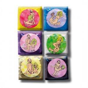 Bote de Preservativos con Posturas 50 Unidades