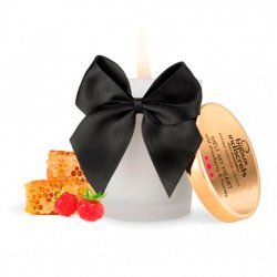 Wild strawberry and honey edible massage candle