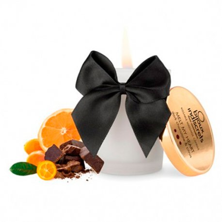 Vela de Masaje Comestible de Chocolate Negro - diversual.com