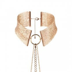 Desir Métallique metallic Collar mesh gold