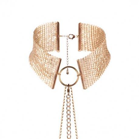 Desir Metallique Collar Metálico Malla Dorado - diversual.com