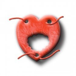 Thong unisexe de bonbons tendre coeur