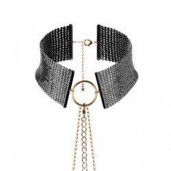 Desir de treillis Métallique métallique collier noir