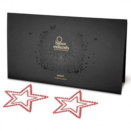 Mimi Cubre Pezones Estrella Rojo - diversual.com