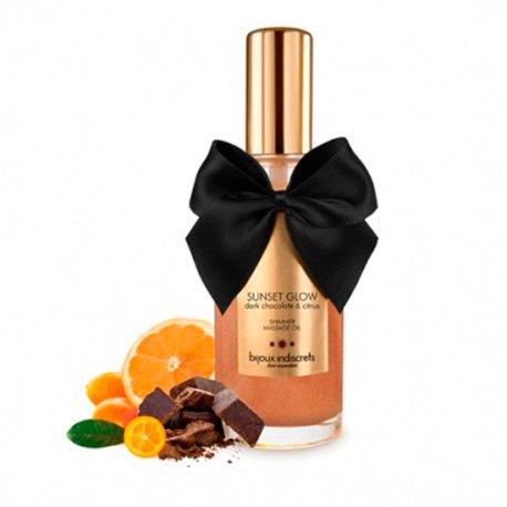 Aceite de Masaje Comestible Chocolate Negro y Citrus - diversual.com