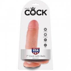 Pénis réaliste roi coq avec les testicules 18 cm