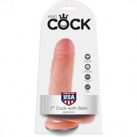 King Cock Pene Realístico con Testículos 18 cm