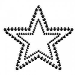 Mimi couvre les mamelons star noir