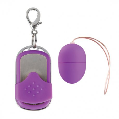 Huevo vibrador 10 Velocidades Control Remoto Violeta Pequeño