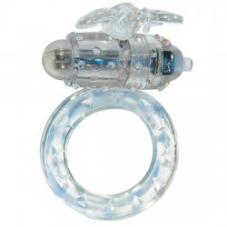 Transparent vibrating penis ring