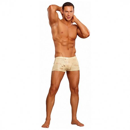 Male Power Boxer Efecto Agujereado Beige