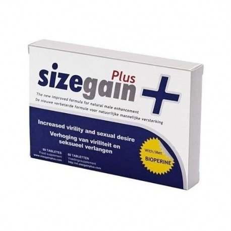 Sizegain Plus 15 Cápsulas Mejora el Tamaño del Miembro Masculino
