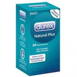 Preservativos Durex Natural Plus 24 Uds