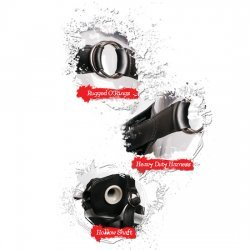 Extreme Arnés Hueco 23 cm Negro