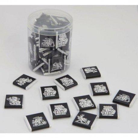Bote de 50 Chocolatinas de Posturas del Kamasutra Made in Spain