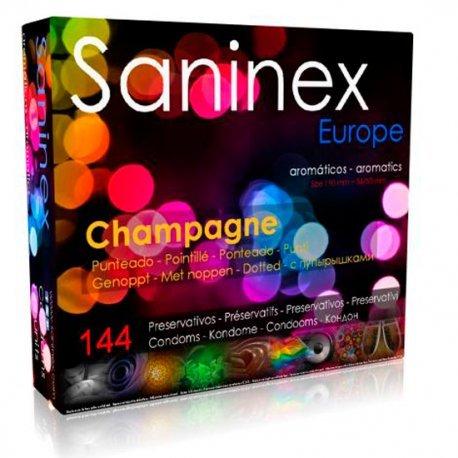 Preservativos Champagne Aromático Punteado 144 Uds - diversual.com