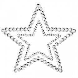 Mimi Cubre Pezones Estrella Plateado