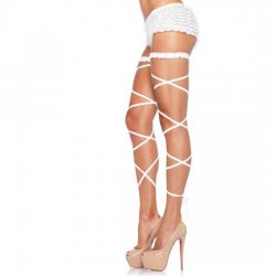 Garter belt set with tape white